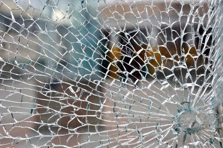 Ødelagt glas eksempel